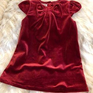 H&M Girls Red Velvet Party Dress